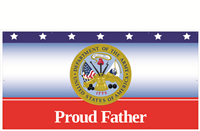 8' x 4' Proud Father Army Banner