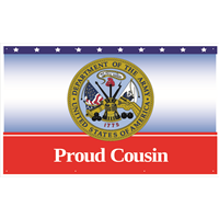 5'x3' Proud Cousin Army Banner