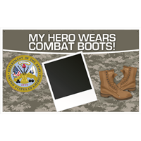 5'x3' My Hero - Army Banner