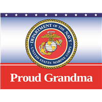 Proud Grandma Marines Yard Sign