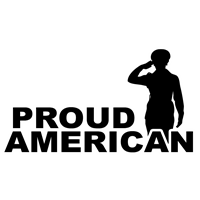 "11"" x 6"" Proud American with Female Soldier Decal"