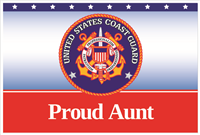 3'x2' Proud Aunt Coast Guard Flag