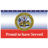 5'x3' Army Proud To Have Served Banner