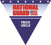 Proud Uncle National Guard Pennant