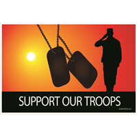 3'x2' Support Our Troops Sunset Male Flag