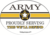 Army Star Decal - Proudly Serving