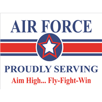 Air Force Star Yard Sign - Proudly Serving