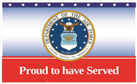 5'x3' Air Force Proud To Have Served Banner