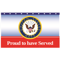 5'x3' Navy Seal Banner - Proud To Have Served