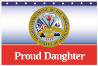 3'x2' Proud Daughter Army Flag