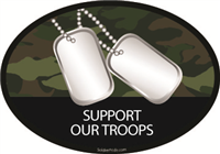 Support Our Troops Camo Decal