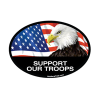 Support Our Troops Eagle Decal