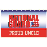 5'x3' Proud Uncle National Guard Banner