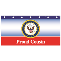 6'x3' Proud Cousin Navy Banner