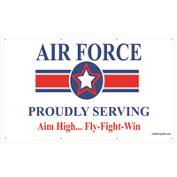 5'x3' Air Force Star Banner - Proudly Serving