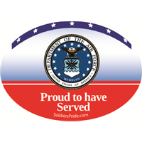 Air Force Seal Proud To Have Served Decal