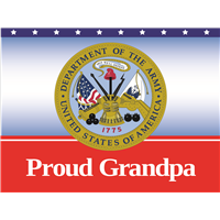 Proud Grandpa Army Yard Sign
