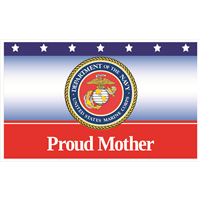 5'x3' Proud Mother Marines Flag