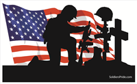 5'x3' Kneeling Soldier Male Flag 2