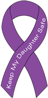 Ribbon Decal Daughter Purple