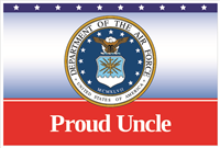 3'x2' Proud Uncle Air Force Flag