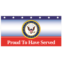 6'x'3 Navy Seal Banner - Proud To Have Served