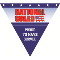 Proud To Have Served National Guard Pennant