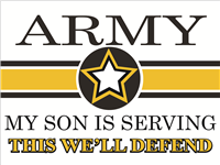 Army Star Yard Sign - Son Serving