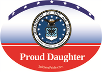 Proud Daughter Air Force Decal