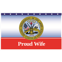 5'x3' Proud Wife Army Banner