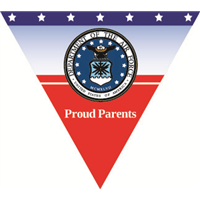 Proud Parents Air Force Pennant