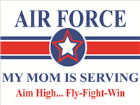 Air Force Star Yard Sign - Mom Serving